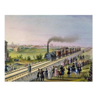 Cartão Postal Abertura da primeira linha Railway