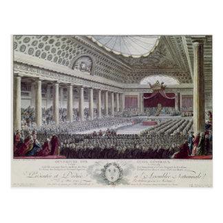 Cartão Postal Abertura do general de propriedades em Versalhes