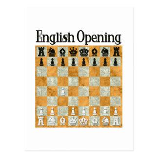 Cartão Postal Abertura inglesa