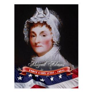 Cartão Postal Abigail Adams, primeira senhora dos E.U.