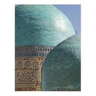 Cartão Postal Abóbadas de turquesa, Shahr mim mausoléu de Zindah