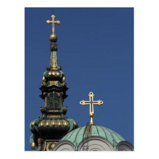 Cartão Postal Abóbadas ortodoxos da igreja cristã