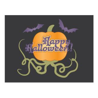Cartão Postal Abóbora feliz do Dia das Bruxas