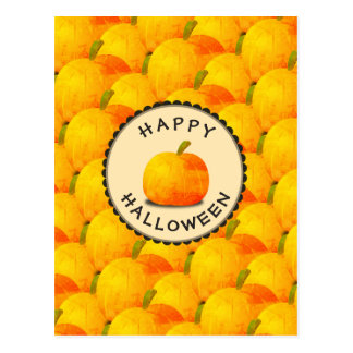 Cartão Postal Abóboras o Dia das Bruxas feliz