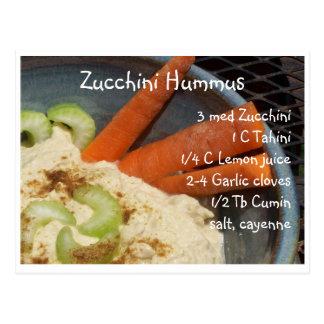Cartão Postal Abobrinha Hummus
