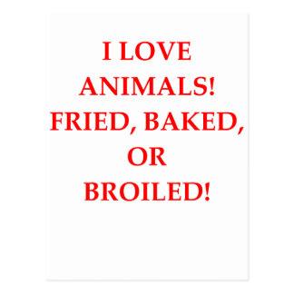 Cartão Postal aborrecedor animal