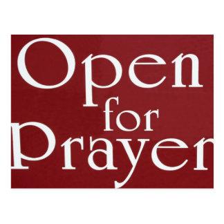 Cartão Postal Abra para o sinal da oração