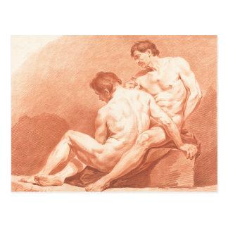 Cartão Postal Abraço dos homens