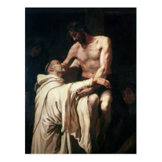 Cartão Postal Abraço St Bernard do cristo