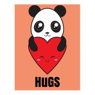 Cartão Postal Abraços da panda