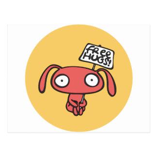 Cartão Postal Abraços de coelho livres