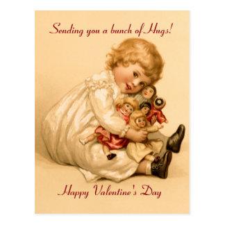 Cartão Postal Abraços dos namorados