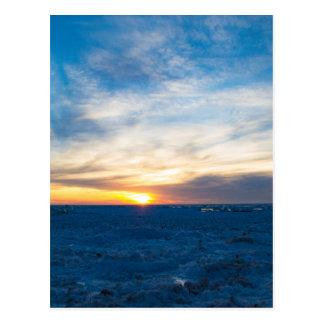 Cartão Postal Abrigo sul o Lago Michigan congelado farol
