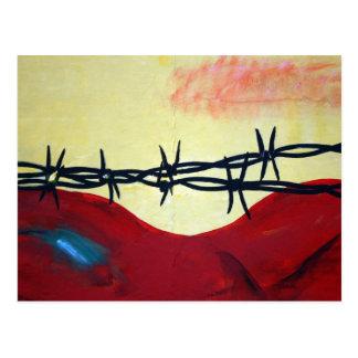 Cartão Postal Abstrato - arame farpado