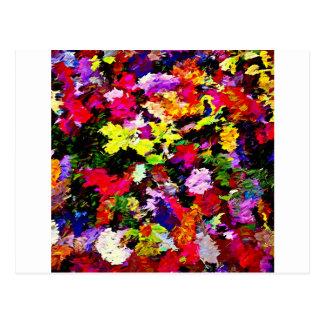 Cartão Postal Abstrato caído das folhas de outono