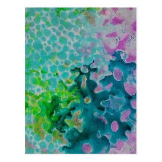Cartão Postal Abstrato das flores