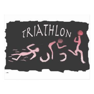 Cartão Postal Abstrato do funcionamento da bicicleta da natação