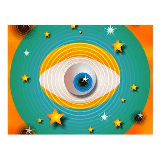 Cartão Postal Abstrato do globo ocular