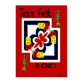 Cartão Postal Abstrato do impressão do japonês do Fest do jazz