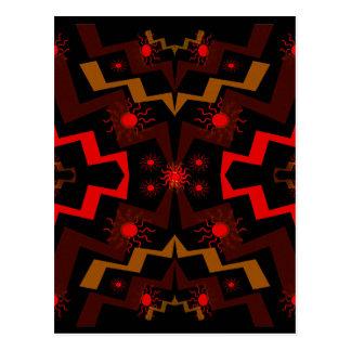 Cartão Postal Abstrato dos sóis do relâmpago