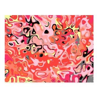Cartão Postal Abstrato estúpido feio da quebra da quebra