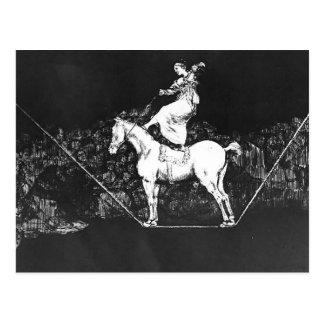 Cartão Postal Absurdidade oportuna da rainha do circo de