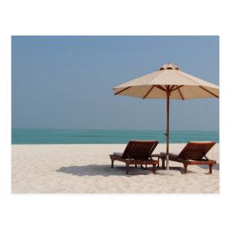Cartão postal - Abu Dhabi Dubai - praia