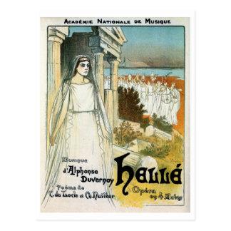 Cartão Postal Academia francesa do vintage do anúncio da música