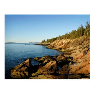 Cartão Postal Acadia da linha costeira