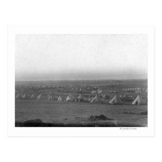 Cartão Postal Acampamento da 7a cavalaria no pinho Ridge