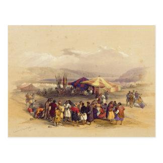 Cartão Postal Acampamento dos peregrinos no volume II de Jericho