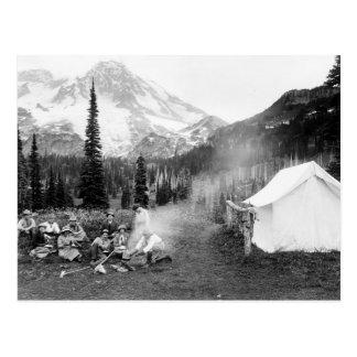 Cartão Postal Acampamento no indiano Henry: 1911