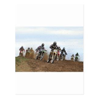 Cartão Postal Ação do motocross