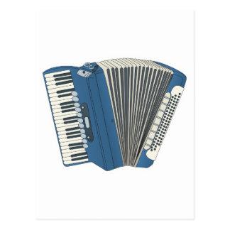 Cartão Postal accordian azul