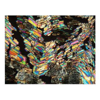 Cartão Postal Ácido aminado da alanina sob o microscópio