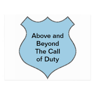 Cartão Postal Acima e além do crachá do call of duty