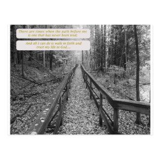 """Cartão Postal Acredite - a """"caminhada na fé """""""