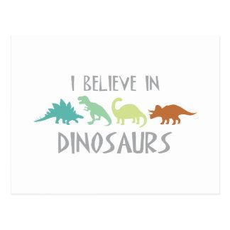 Cartão Postal Acredite nos dinossauros