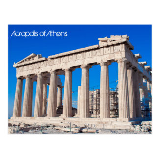 Cartão Postal Acrópole de Atenas