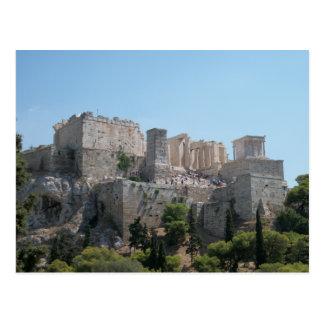 Cartão Postal Acrópole - uma vista de Areopagus