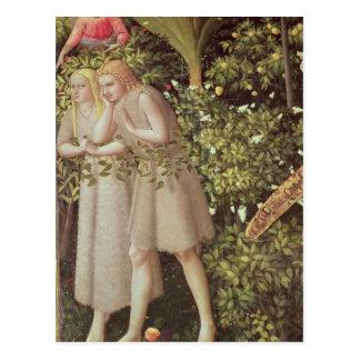 Cartão Postal Adam e véspera expelidos do paraíso