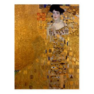 Cartão Postal Adele, senhora no ouro - Gustavo Klimt