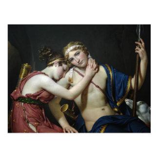 Cartão Postal Adeus de Jacques David de Telemachus e de Eucharis