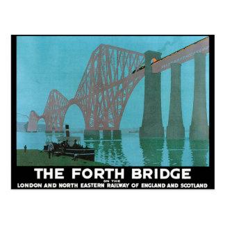 Cartão Postal Adiante a ponte - estrada de ferro do nordeste