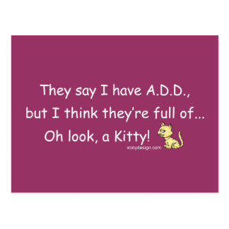 Cartão Postal ADICIONE o cheio do humor do gatinho