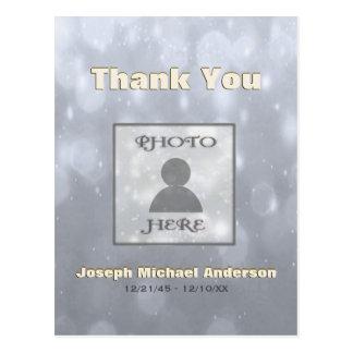 Cartão Postal Adicione o obrigado de Picture| você prata do ouro