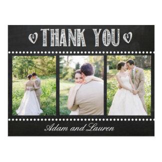 Cartão Postal Adicione seu próprio obrigado do quadro das fotos