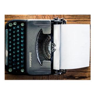 Cartão Postal Adicione seu próprio texto ao papel de máquina de