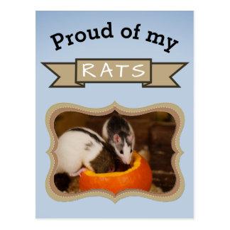 Cartão Postal Adicione seu rato da foto dos ratos do animal de