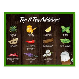 Cartão Postal Adições superiores do chá